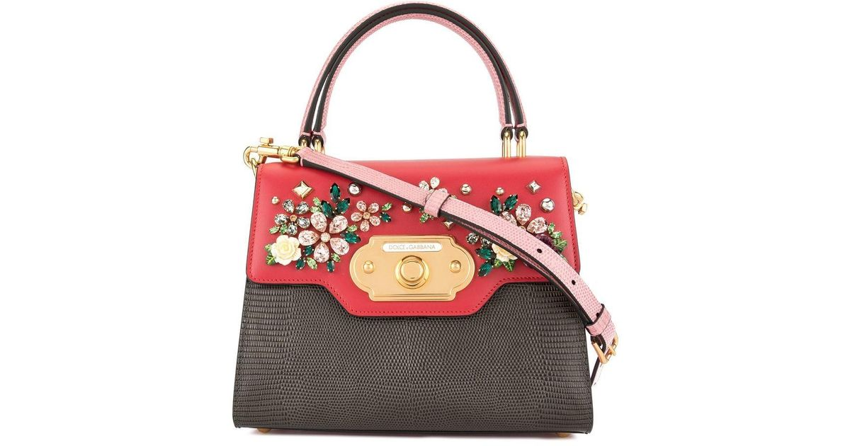 ad19b22db2 Dolce & Gabbana Small Welcome Shoulder Bag in Red - Lyst