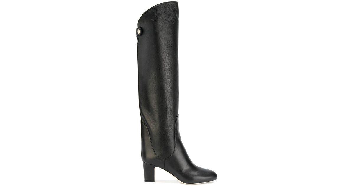 5deebfd06b64 Lyst - Jimmy Choo Minerva 65 Boots in Black