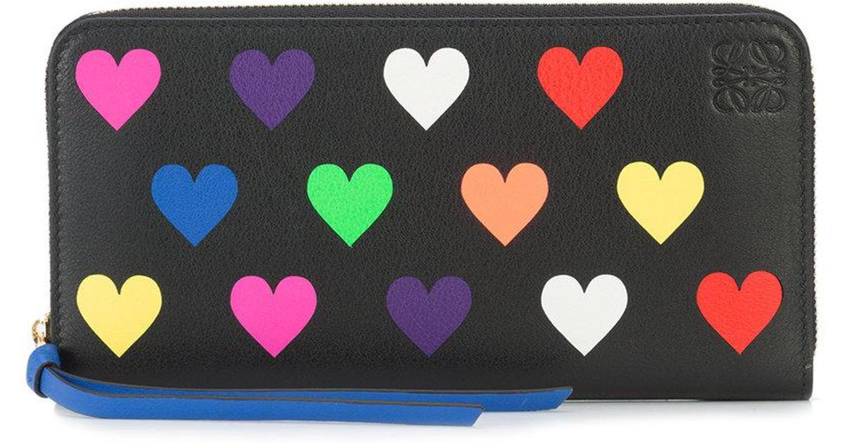 hearts zip around wallet - Black Loewe RIhXd29l