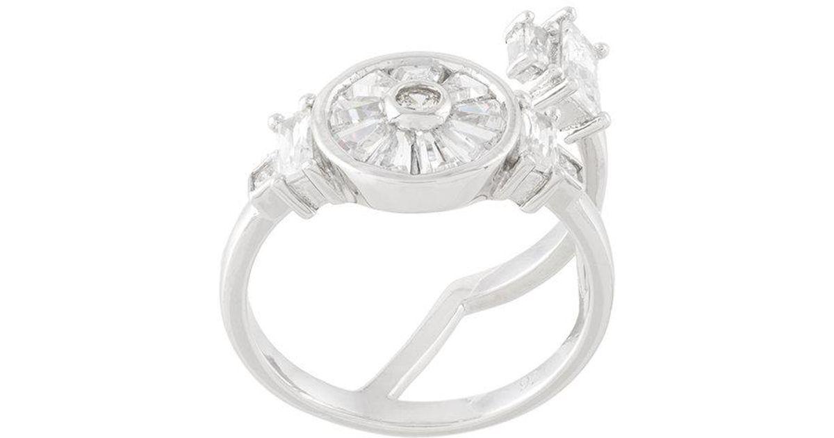 Olive ring - Grey V JEWELLERY ZBzK1G8t