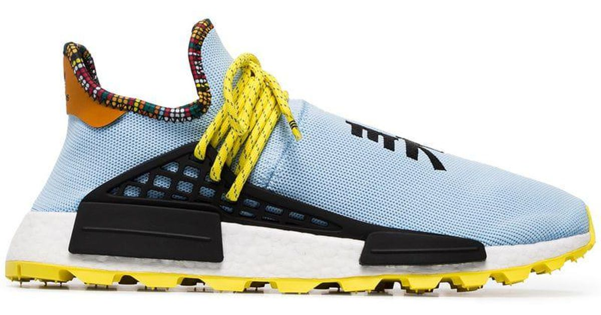 Adidas Originals Blue X Pharrell Williams Multicoloured Human Body Nmd Sneakers for men
