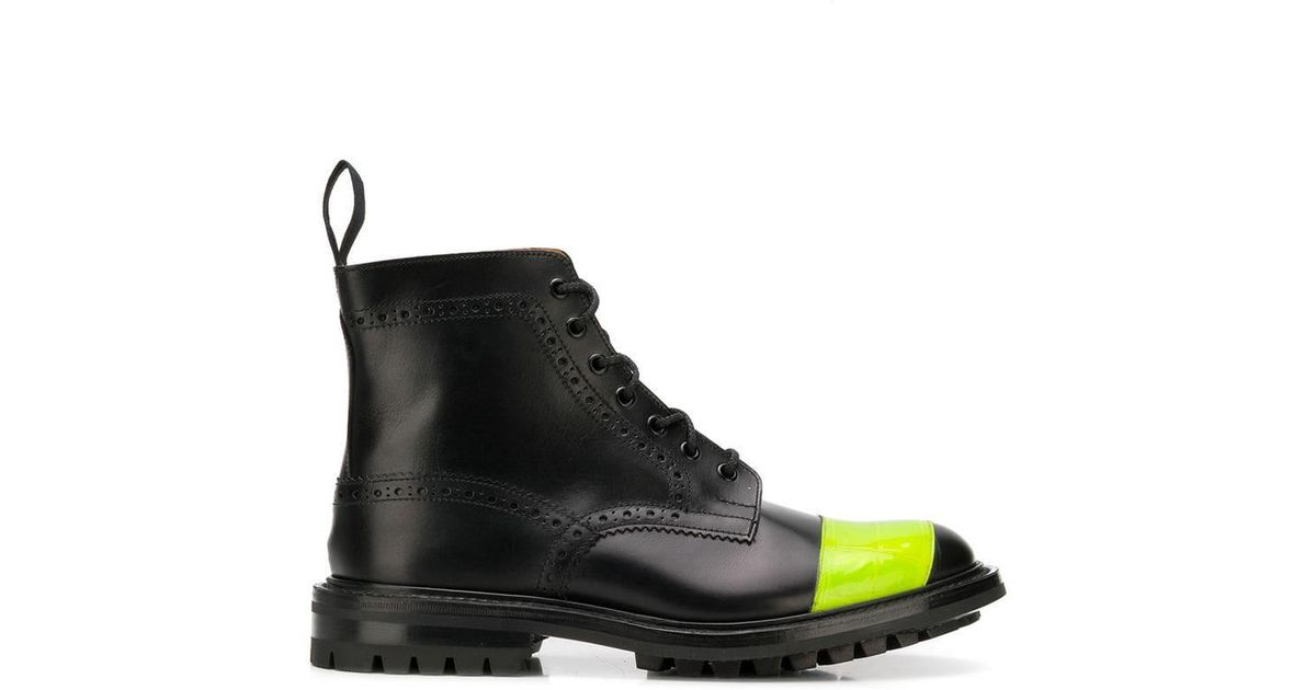 Trickers Pour Watanabe Lyst Junya Bottes Noires Brogue Edition qxBIP0