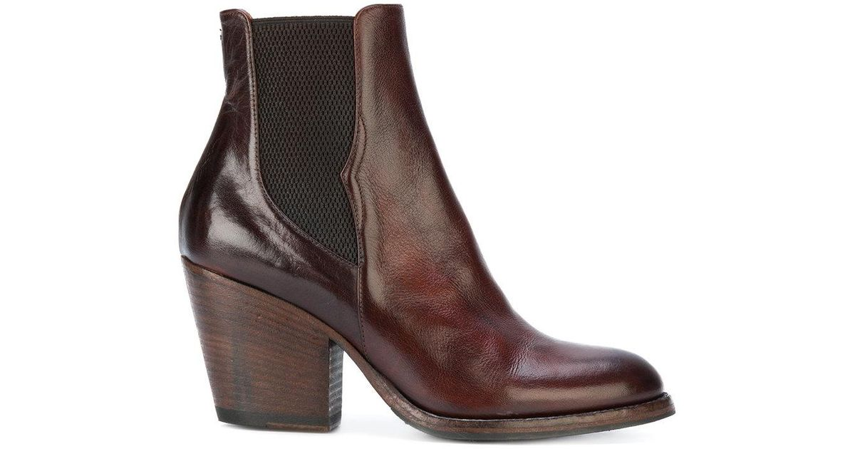 10b655699dfa2 Pantanetti Western Heeled Boots in Brown - Lyst