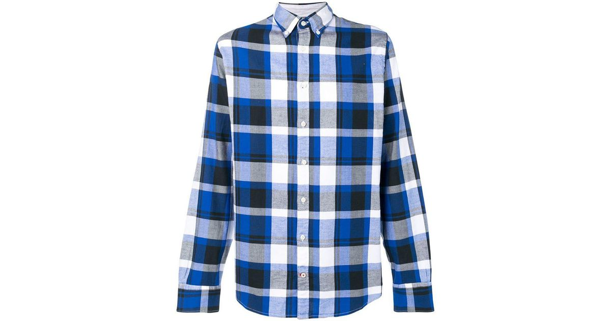 71f8b425 Lyst - Tommy Hilfiger Plaid Button Down Shirt in Blue for Men