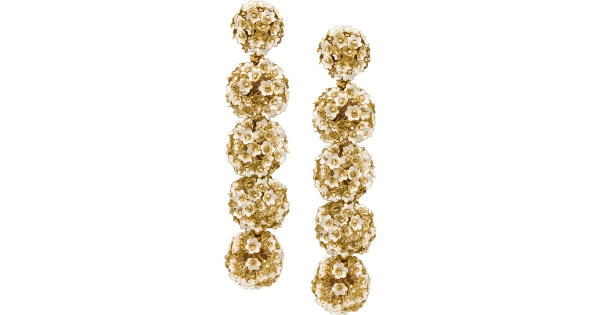 Sachin & Babi Fleur Bouquet earrings - Metallic