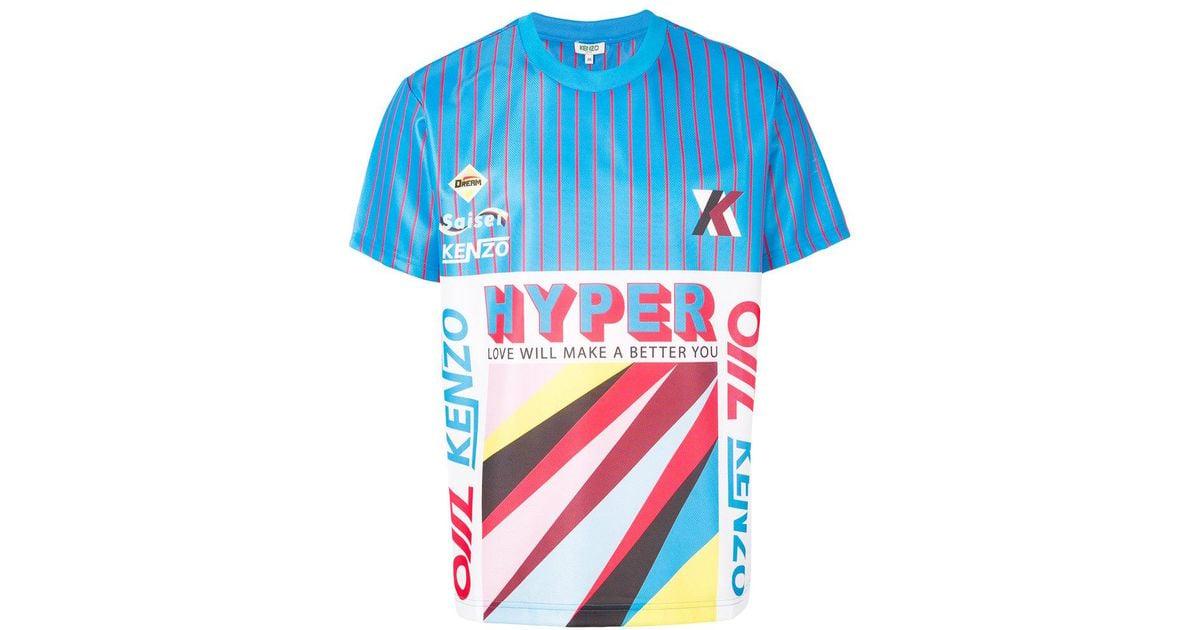 0744ddc3 KENZO Hyper T-shirt in Blue for Men - Lyst