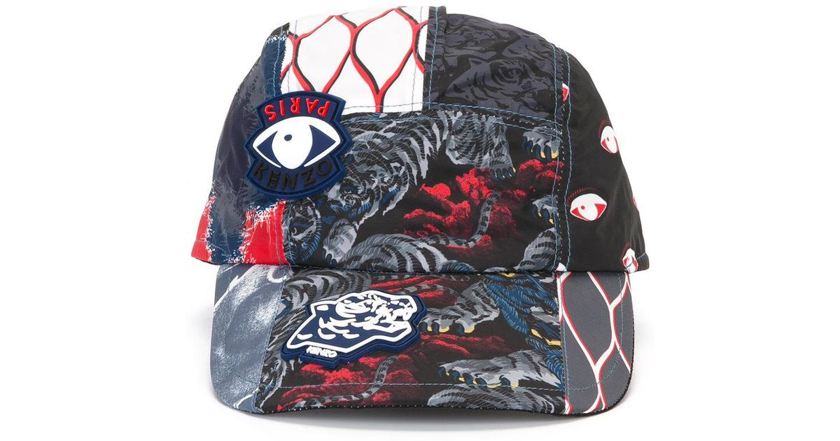 f20e216641c Lyst - KENZO Multi Icon Cap in Black for Men