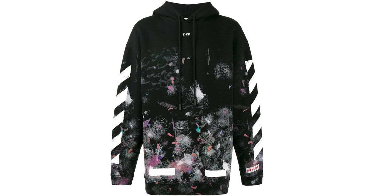 b95e9a85d6f51b Lyst - Off-White c o Virgil Abloh Diagonal Stripe Print Galaxy Hoodie in  Black for Men