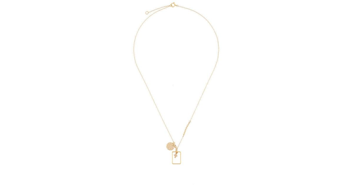 PetiteGrand charm and frame necklace - Metallic 1qHV2
