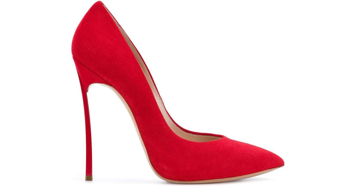 326caea95fc Lyst - Casadei Blade Pumps in Red