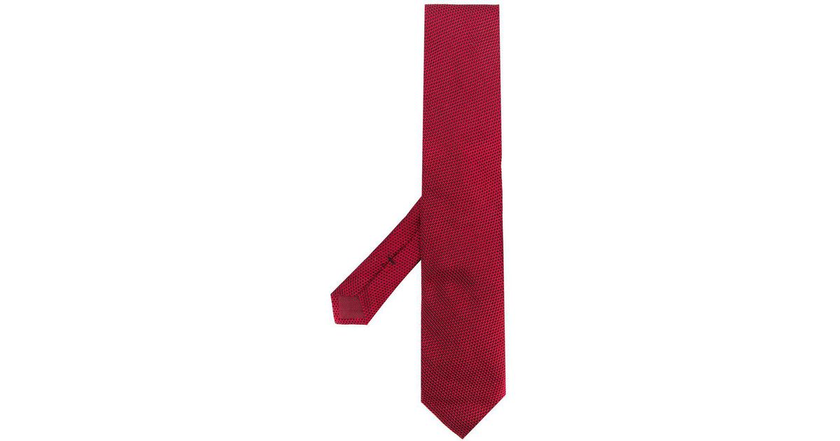 Tom Ford Jacquard Tie In Red For Men Lyst