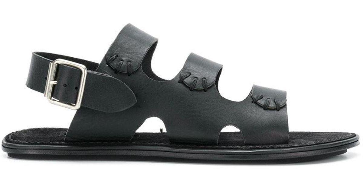 triple-strap flat sandals - Black Ann Demeulemeester utFhHlTfQK