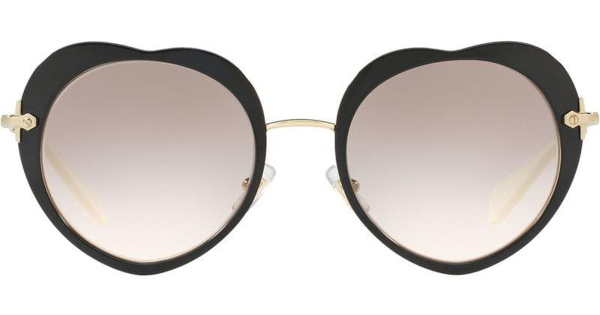 b87c48393c Lyst - Miu Miu Noir Heart Shaped Sunglasses in Gray