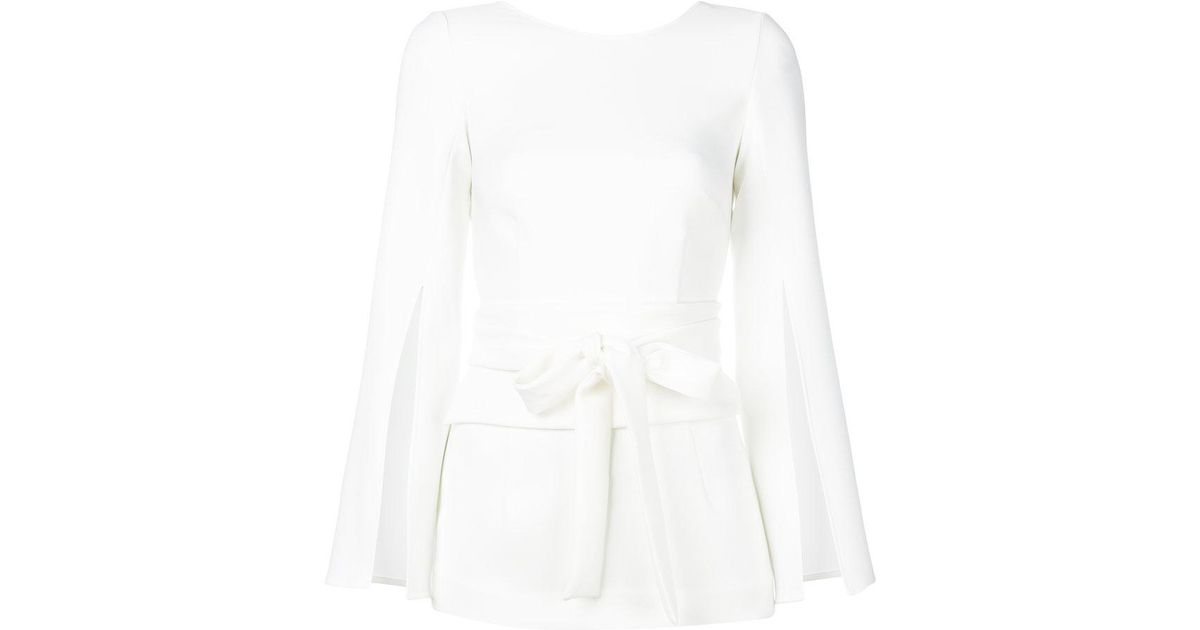 Online bow tie blouse - White P.A.R.O.S.H. Buy Cheap Eastbay 0xPZ0Jj