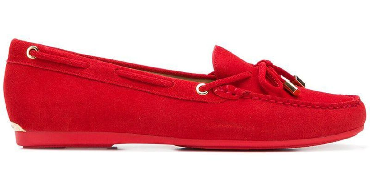 77668fdb8213 Lyst - MICHAEL Michael Kors Bow Detail Loafers in Red
