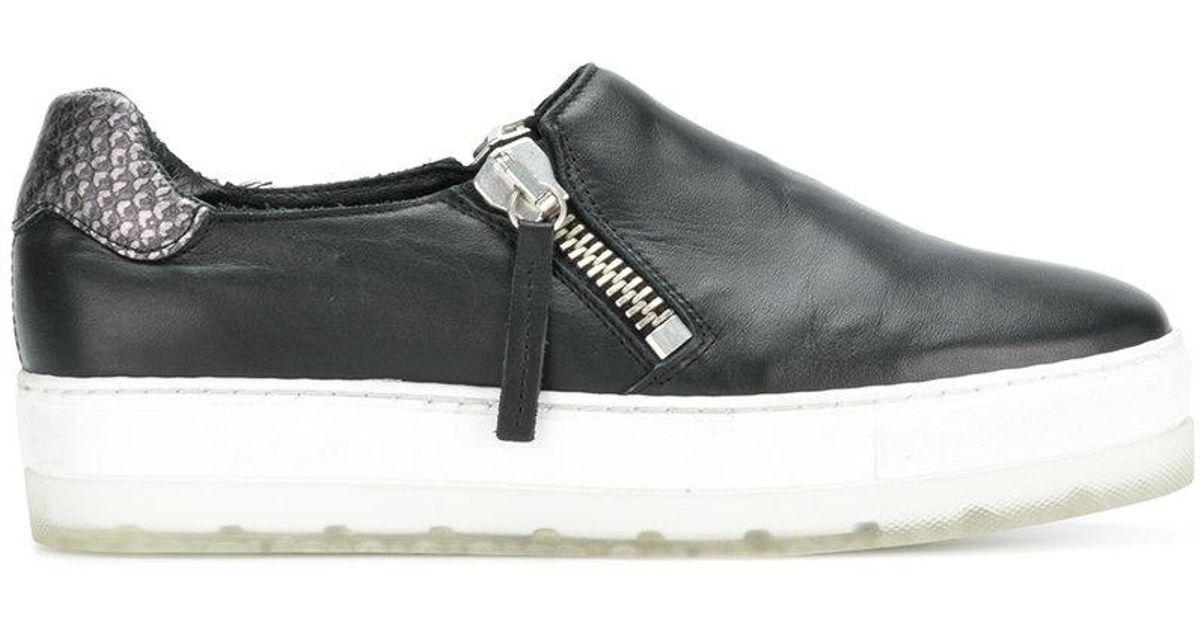 98a9597fd0a Lyst - DIESEL Zip Platform Sneakers in Black