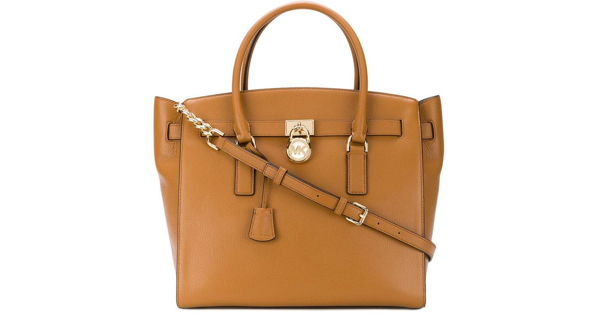 9899a9a51d Lyst - MICHAEL Michael Kors Hamilton Large Tote in Brown