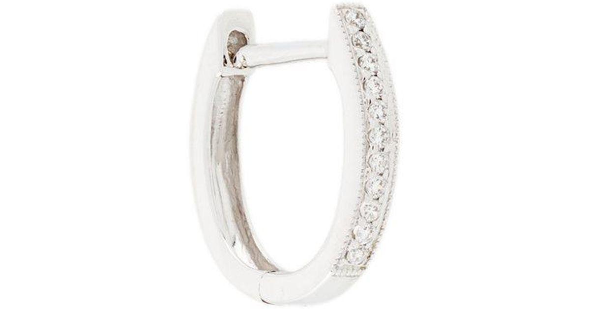 Wouters & Hendrix 18kt gold champagne diamond hoop earrings - Metallic T0X1Udr