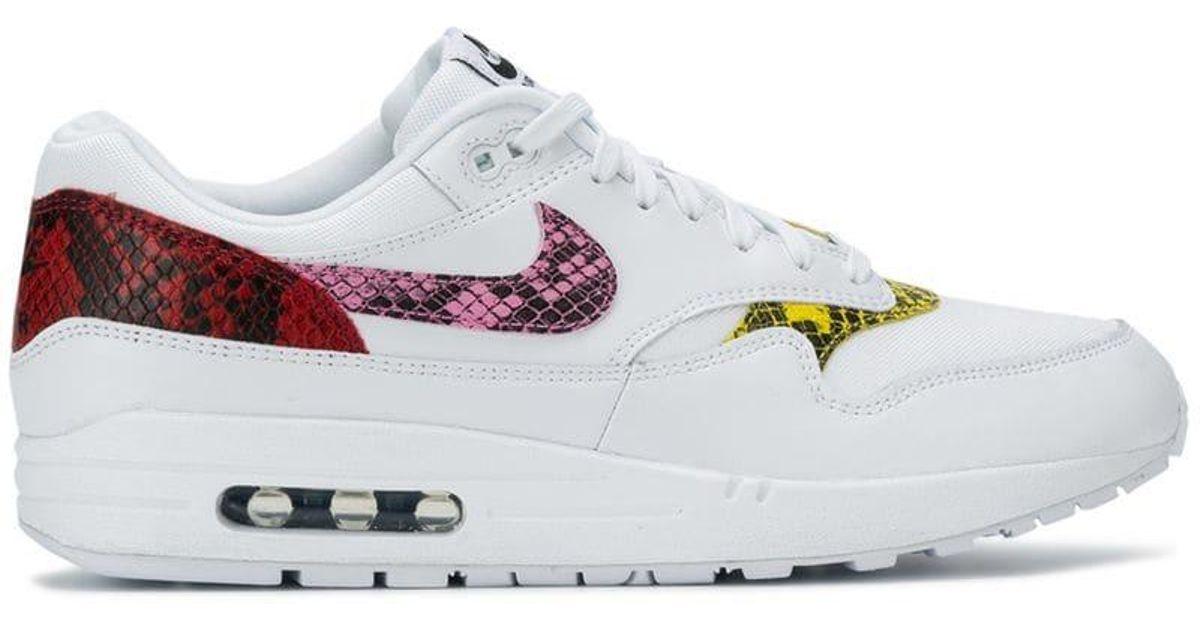 558c22cb50 Nike Air Max 1 Premium Animal Sneakers in White - Lyst