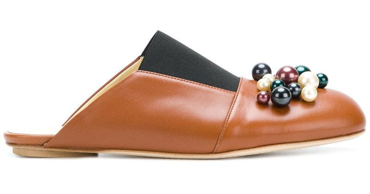 Slip-on Embelli Marni Mules - Marron I7D597y