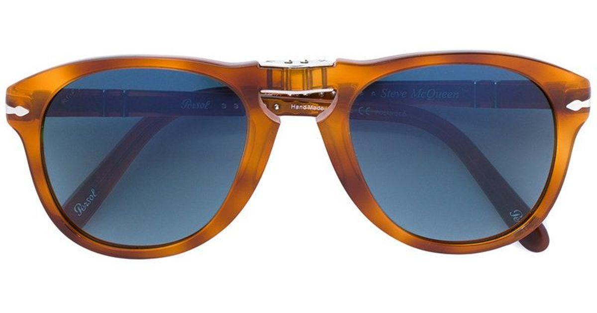 12711f601f Persol Foldable Steve Mcqueen Sunglasses in Blue - Lyst