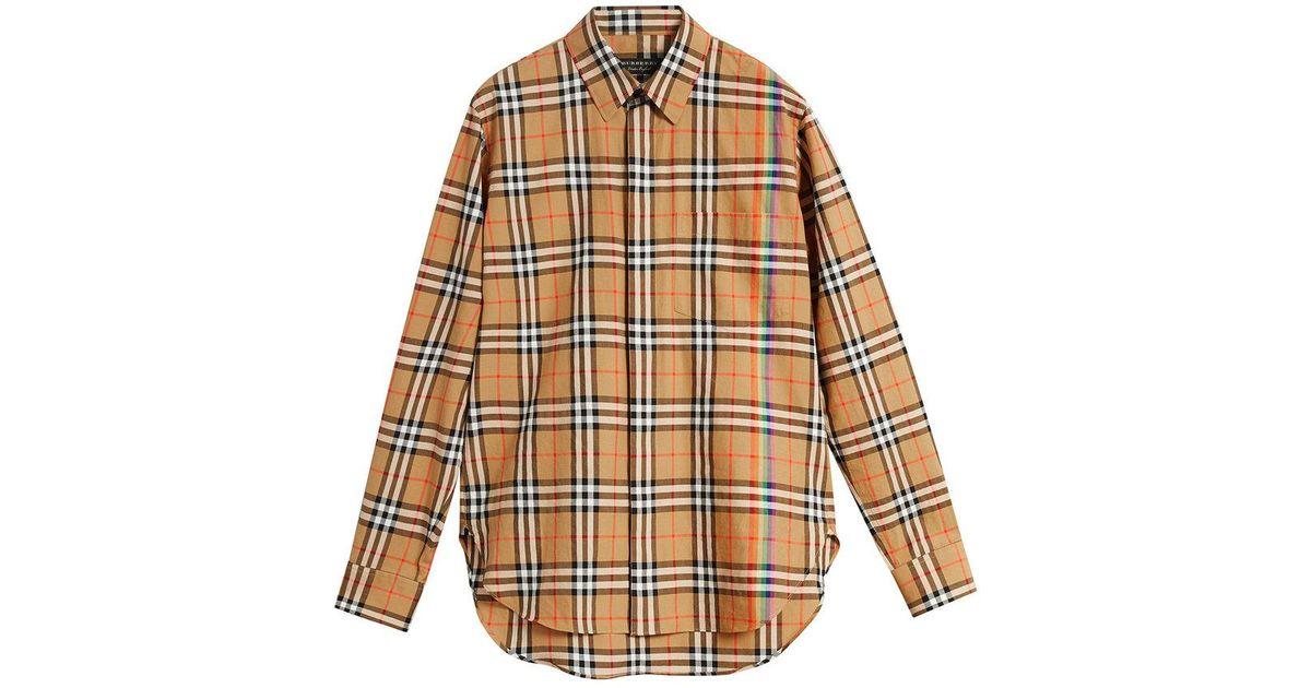 0ebafbaf07db20 Burberry Rainbow Vintage Check Shirt for Men - Lyst