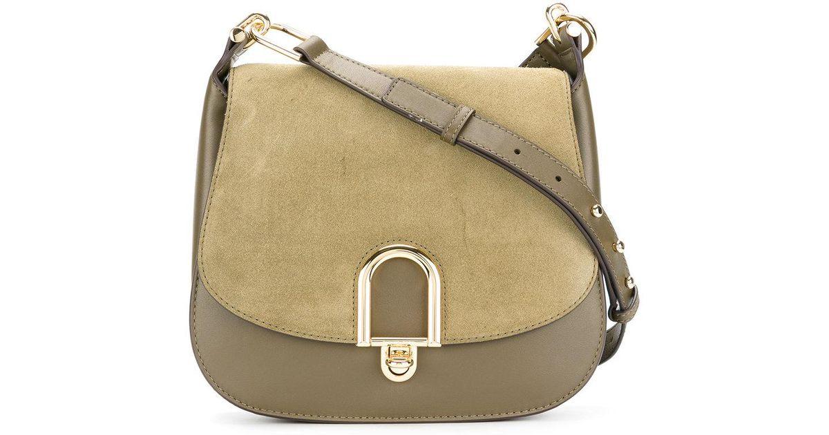 754c3e237f93 Lyst - MICHAEL Michael Kors Delfina Cross Body Bag in Green
