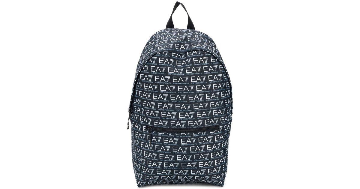 8a88d1d46a0d Lyst - EA7 Logo Print Backpack in Black for Men