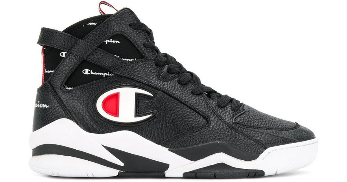 0ab2ef402ec78 Champion Zone 93 Hi-top Sneakers in Black for Men - Lyst