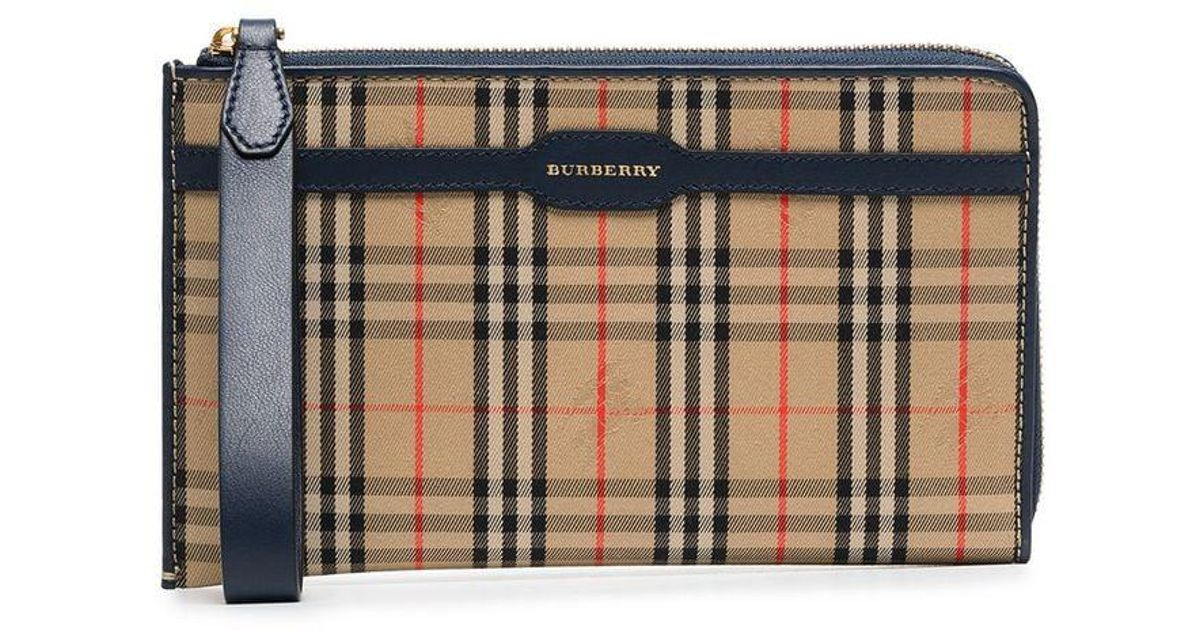 Lyst - Burberry Checked And Logo Printed Pouch Bag for Men 6b7c250e43d4a