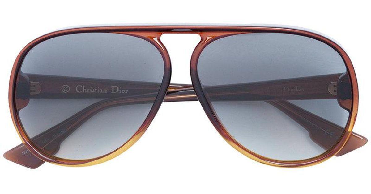 99b05188b2cd Dior Aviator Sunglasses in Brown - Lyst