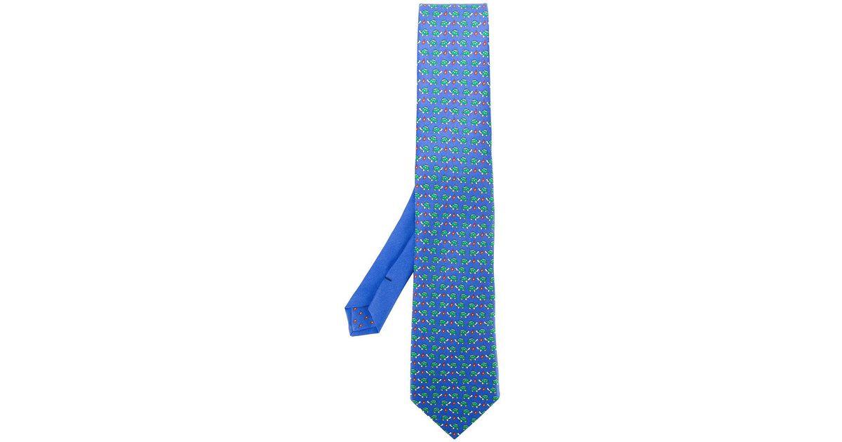tortoise print tie - Blue Etro Jrf94fUsEz