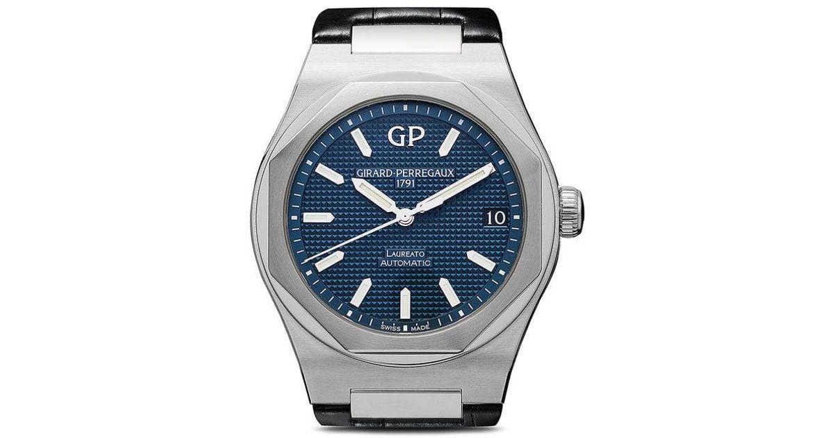Lyst - Reloj Laureato 42mm Girard-Perregaux de hombre de color Azul 104de03a2a01