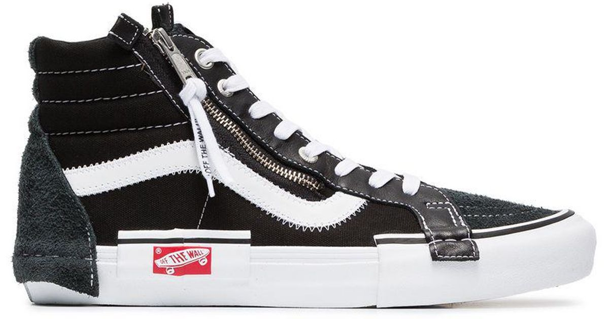 49a1e4f5d9 Vans Black Vault Sk8-hi Suede Sneakers in Black for Men - Lyst