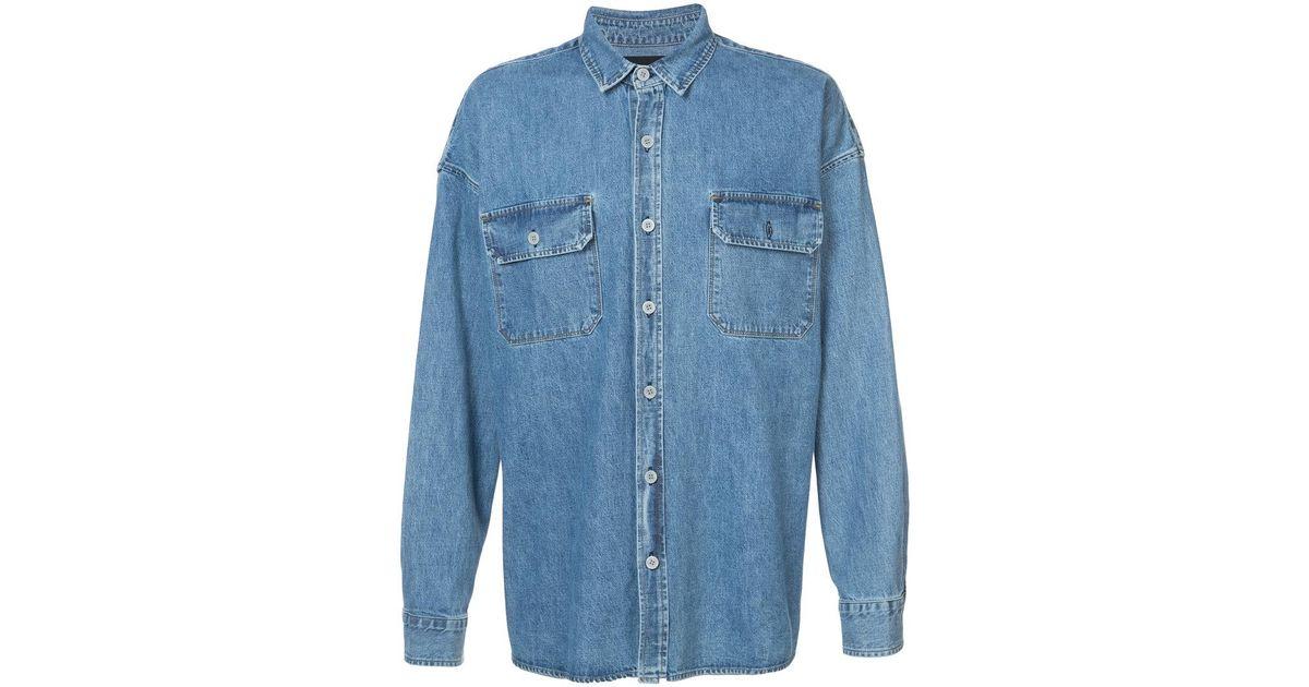 d1ffb20bf2 Lyst - Fear Of God Oversized Denim Shirt in Blue for Men