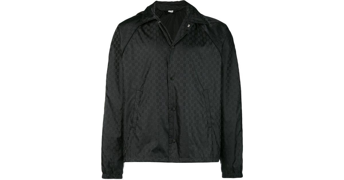 8f65a8cd371bd7 Gucci Supreme Jacquard Windbreaker in Black for Men - Lyst