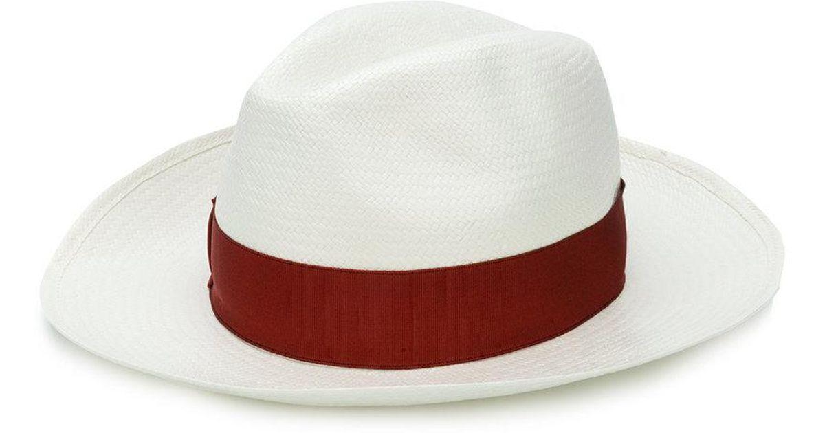 Lyst - Borsalino Wide-brimmed Fine Panama in White for Men 735e78078926