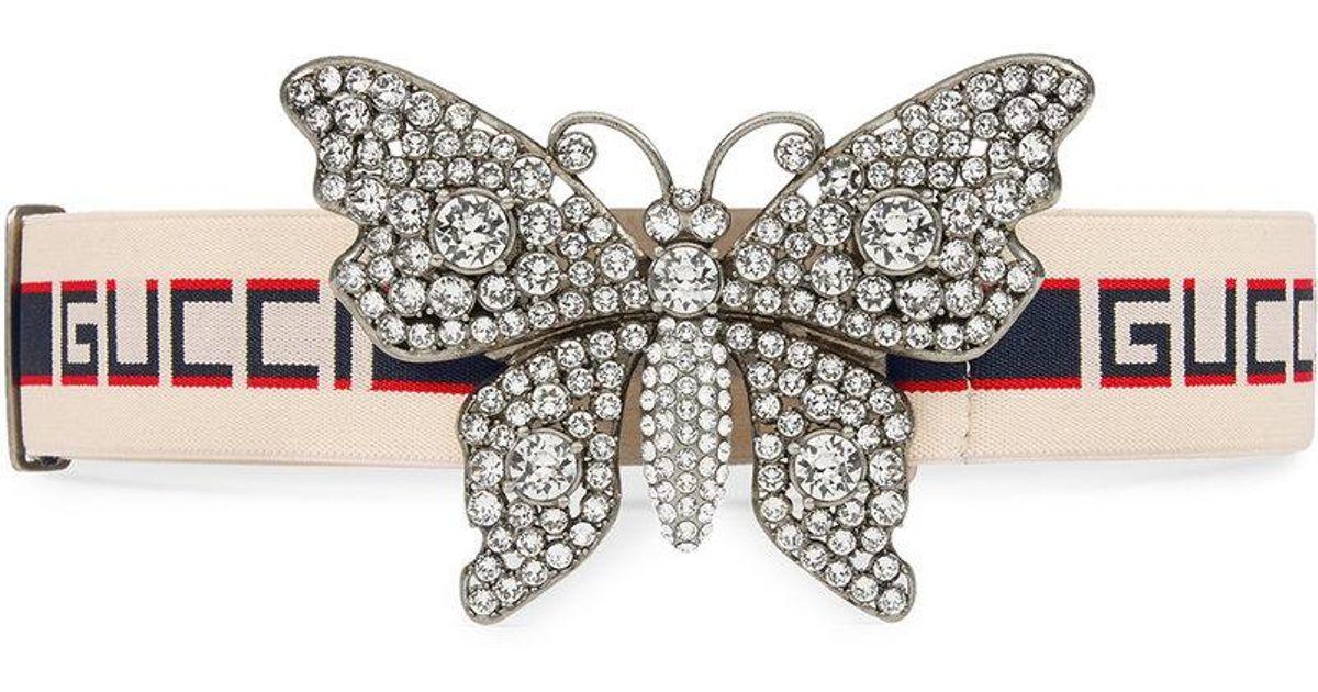 Papillon Gucci Ceinture Rayée 5Nbrr7
