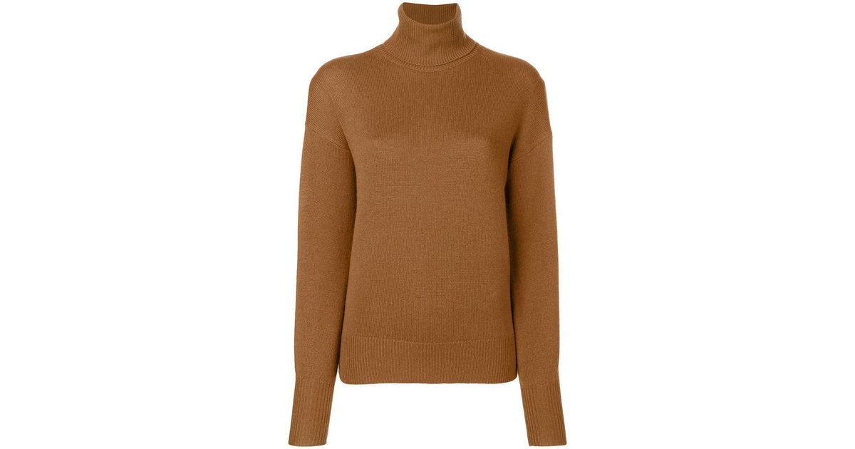 5d2a4a0056 Lyst - Theory Cashmere Turtleneck Sweater in Brown