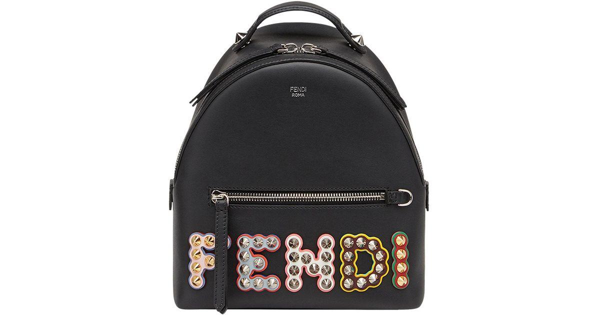 embellished logo backpack - Black Fendi Clearance Deals lDLoncB