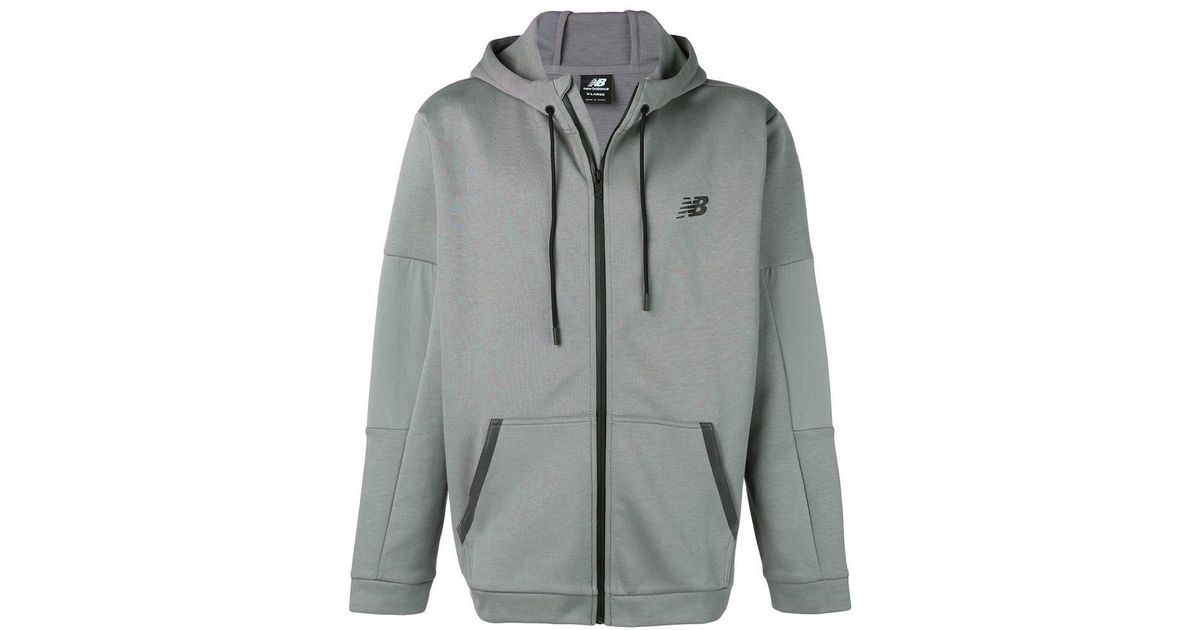 5de4d6fd26532 New Balance Boxy Fit Hooded Jacket in Gray for Men - Lyst