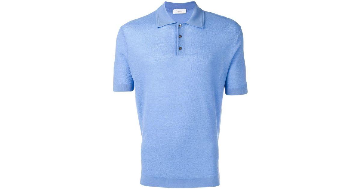 26119f6c Pringle Of Scotland Merino Wool Polo Shirt in Blue for Men - Lyst