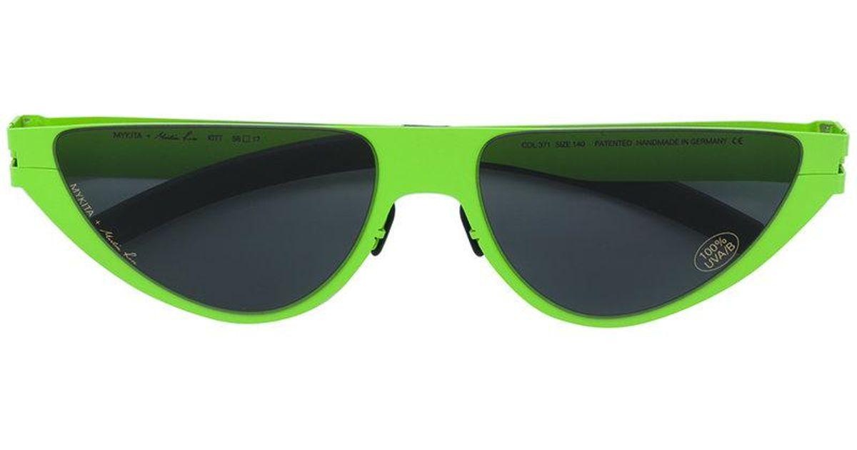 6c380d6d908 Lyst - Mykita X Martine Rose Kitt New Lime Sunglasses in Green