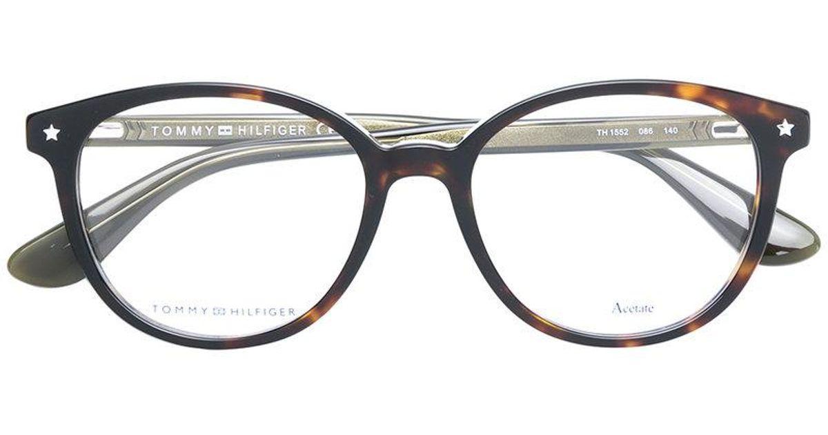 22413551e36 Lyst - Tommy Hilfiger Tortoiseshell Glasses in Brown
