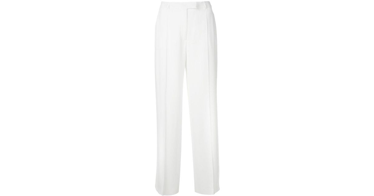 Buy Cheap Big Sale centre pleat trousers - White Agnona Collections Cheap Price P1grorfJ