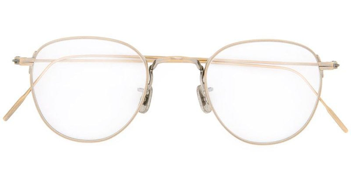 90faae90e0 Eyevan 7285 Round-frame Glasses in Metallic - Lyst