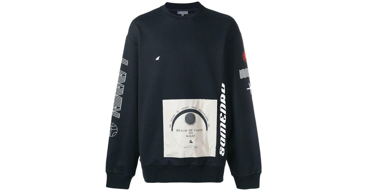 dbe70e40 Lanvin Multi Logo-print Sweatshirt in Black for Men - Save 71% - Lyst
