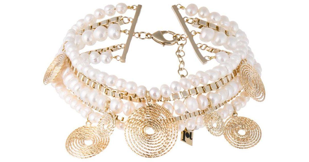Rosantica Armonia Layered Pearl Charm Necklace laLK4
