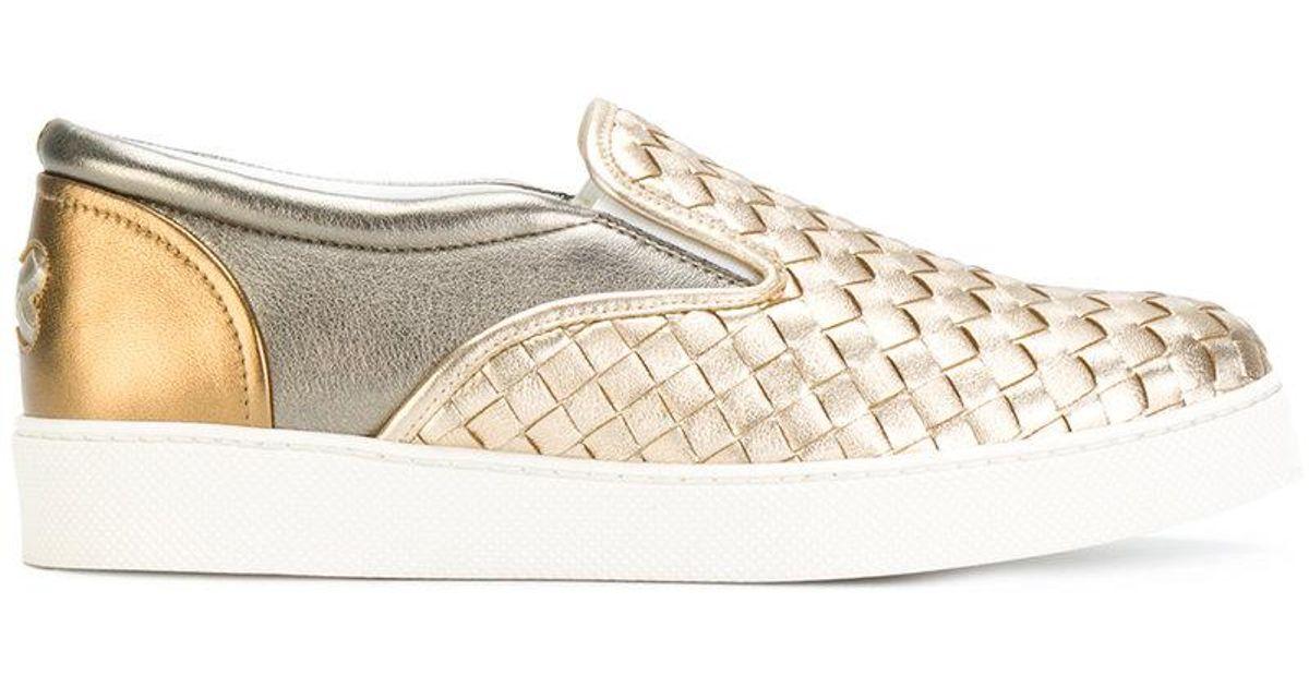 Bottega VenetaMetallic Intrecciato Slip-On Sneaker GCblJ4
