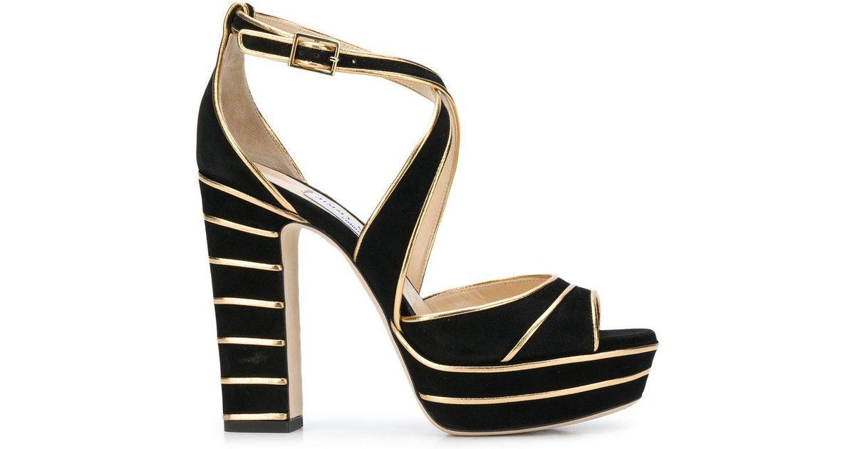 d0c61218544927 Lyst - Jimmy Choo April 120 Sandals in Black